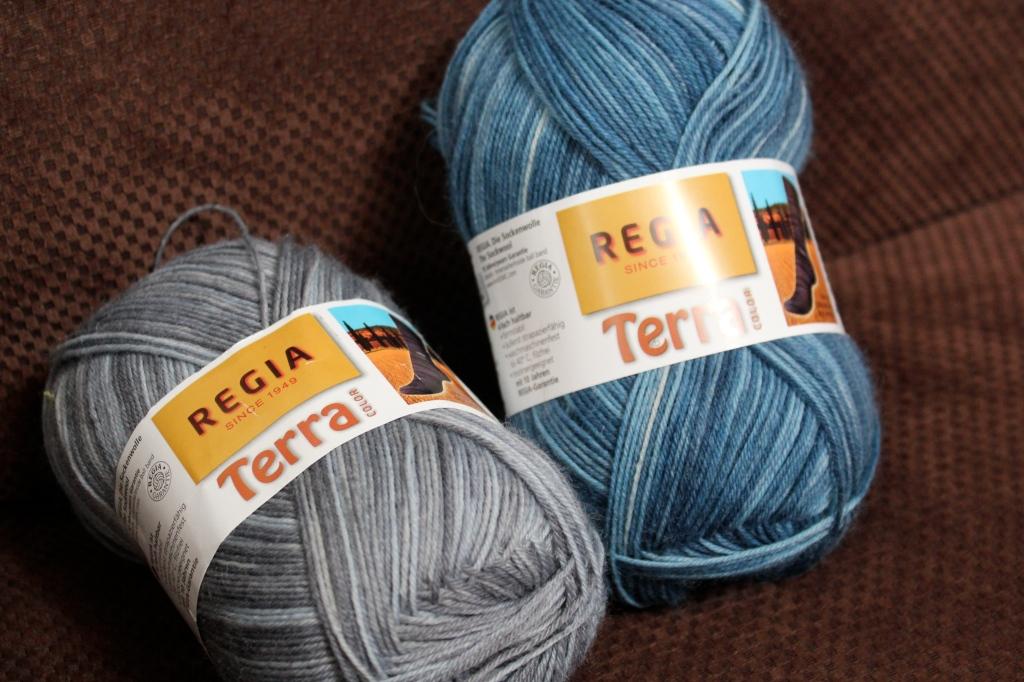Regia 4 Ply Terra in Silver and Denim